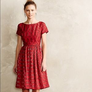 Anthropologie Moulinette Soeurs Rubied Lace Dress